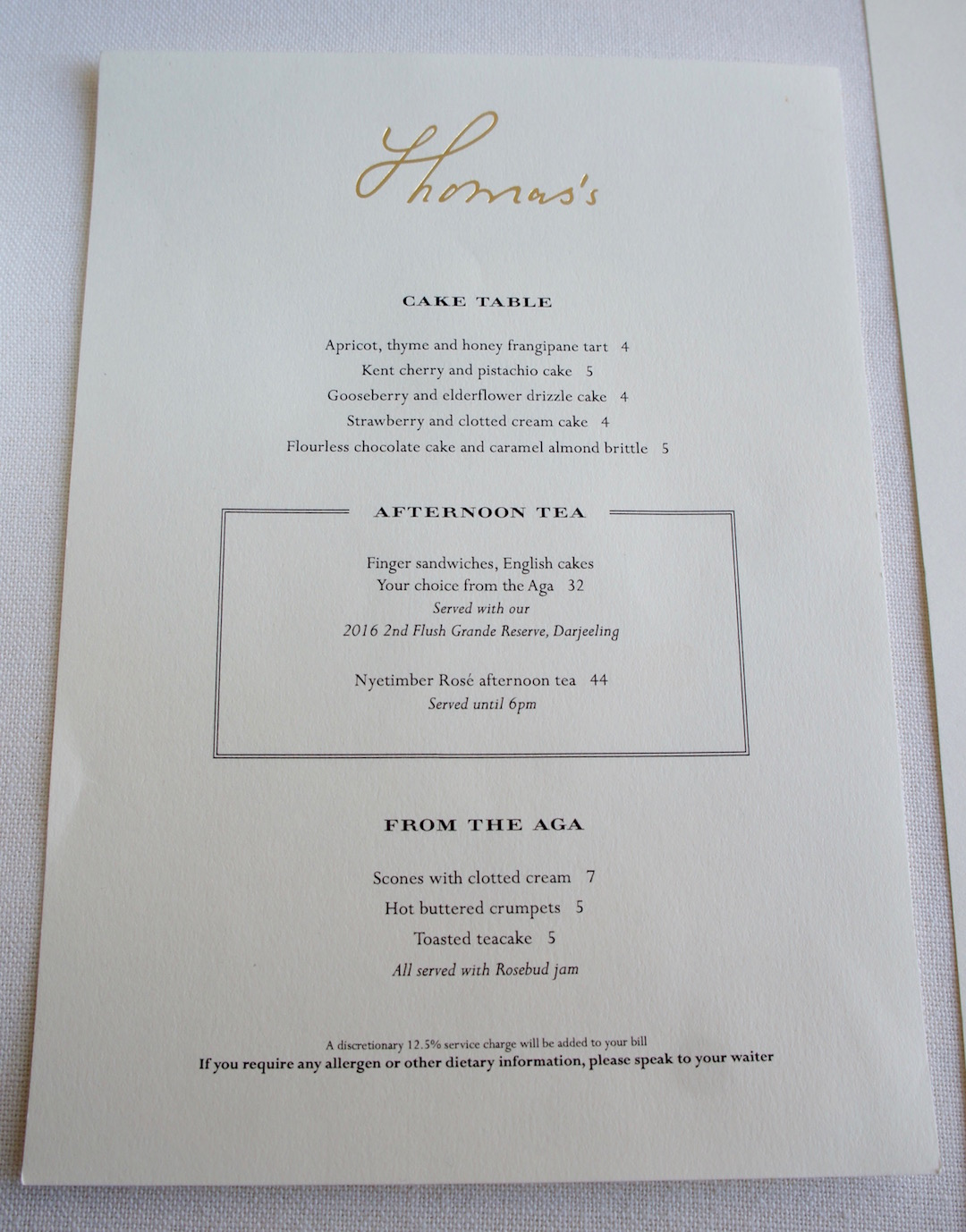 Thomas's Cafe at Burberry